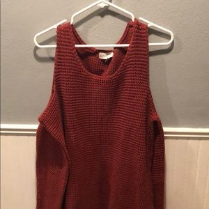 Sweaters - Shoulder cut out rusty sweater from Target!